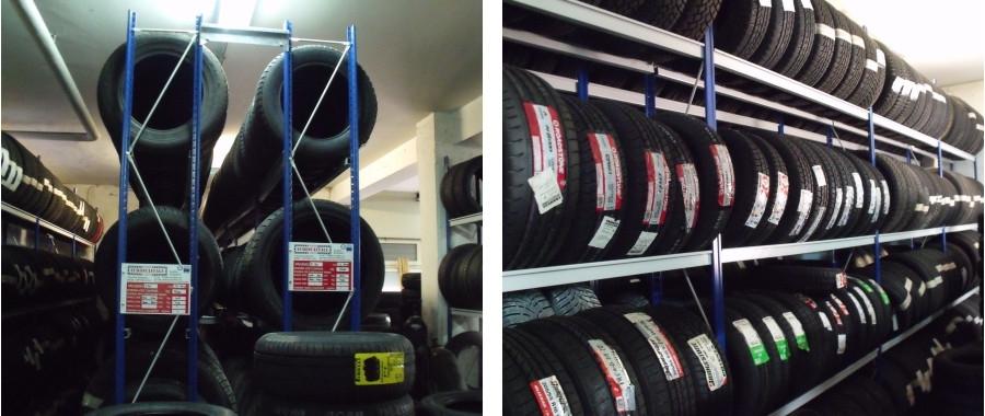 10. Scaffalatura per pneumatici mod. E50