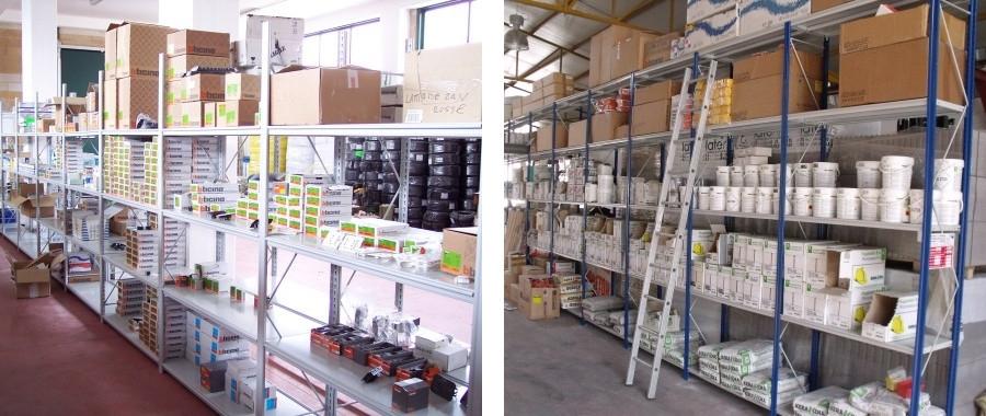 6. I nostri scaffali modello E50 sono adatti per lo stivaggio di materiale caricato manualmente