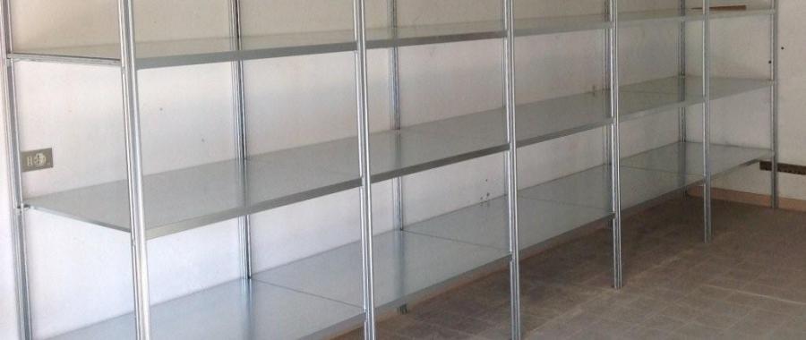 4. (e40) scaffalatura metallica zincata