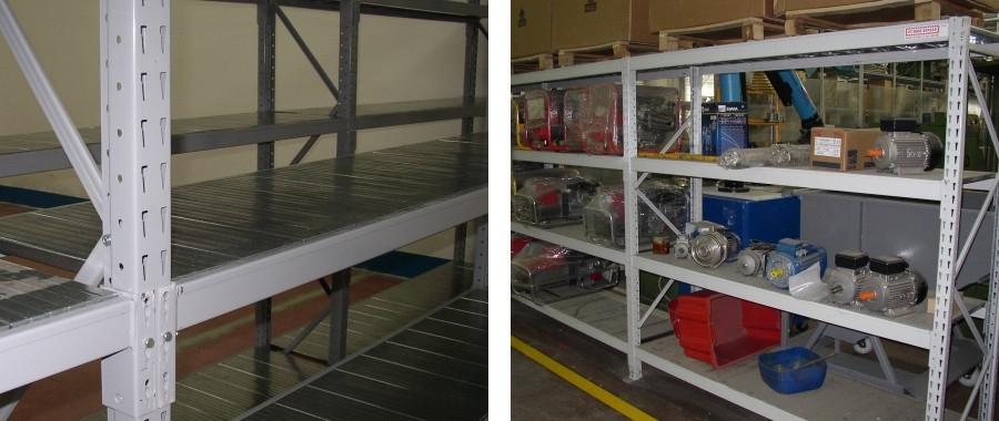 1. Scaffale industriale media portata E60 con 4 livelli di carico