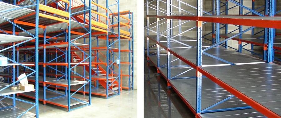 7. Soppalco metallico realizzato con i nostri scaffali industriali E60