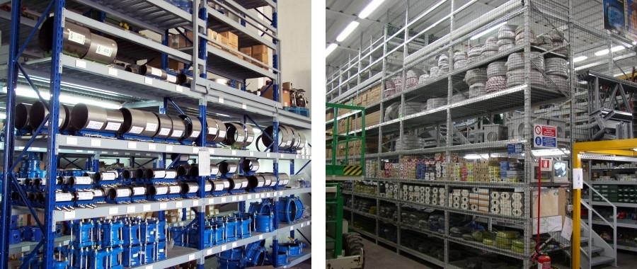 8. Scaffali industriali media portata modello E60