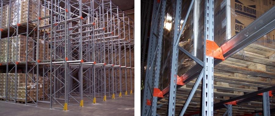 10. Scaffalatura Drive-in sistema LiFo per ottimizzare al meglio le superfici dei grandi magazzini (si eliminano gli spazi inutilizzati dei corridoi)