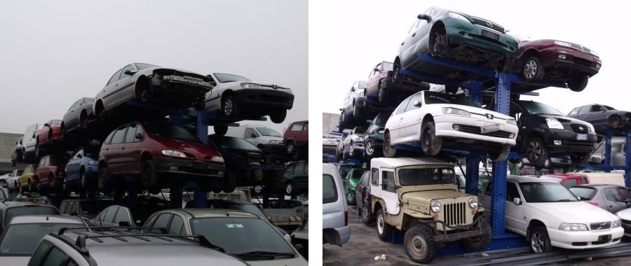 3. Scaffalatura cantilever porta veicoli bifronte
